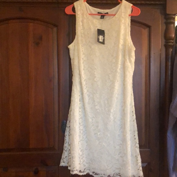 Brand New Cream white short lace dress